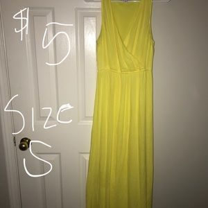 Yellow sun dress